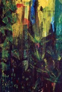 Kristallschlucht - Acryl auf Malkarton - 80 x 110