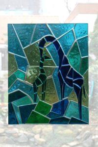 Chaos und Liebe - Relief-Fusingarbeit aus Artista-Farbglas - mehrschichtig