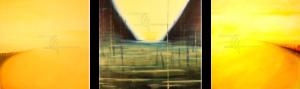 Triptychon Überall ist Ewigkeit - Acryl auf Leinwand