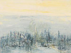 Antarktis Impression - Acryl, Glaspuder auf Leinwand - 80 x 60