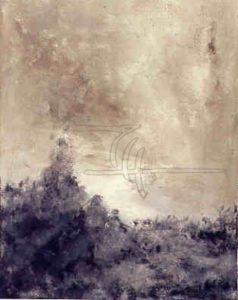 Genesis - Acryl, Glaspuder auf Leinwand - 70 x 90