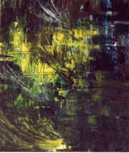 Grotte - Acryl auf Malkarton - 70 x 90