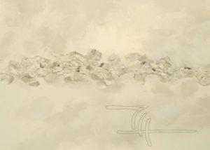 Melides Impression - Acryl, Glaspuder auf Leinwand - 90 x 65
