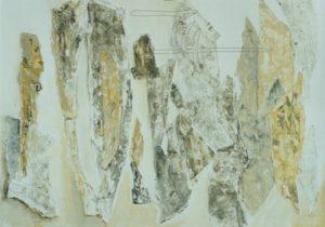 Steine - Acryl, Karton auf Malkarton - 50 x 70