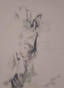 Verzasca - Zeichnung - 34 x 44